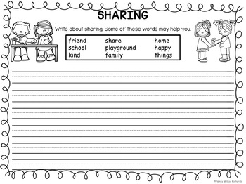 Character Education about SHARING with Emergent Reader