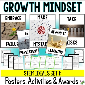 Character Education for STEM Classes Set 1: Growth Mindset STEM Ideals
