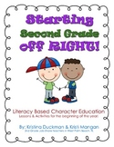 Character Education for the First Week of School / Back to School