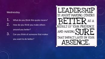 Character Education- leadership