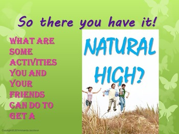 Customizable Character Ed Lesson: Drug Free Natural High (Red Ribbon Week)