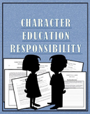 """Character Education""""Responsible"""" Great for PBIS and Advisory"""