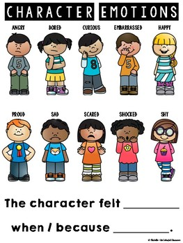 Character Emotions {Character Feeling Resources + Graphic Organizers}