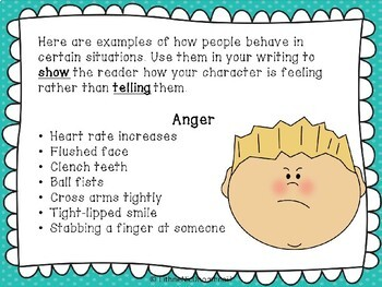 Character Emotions- Show Don't Tell