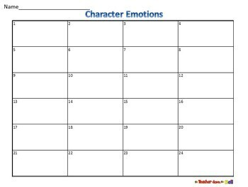 Character Emotions Task Cards - 24 Cards w/ QR Codes!