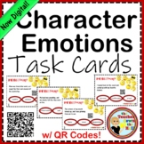 Character Emotions Task Cards w/ QR Codes