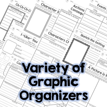 Character, Event, and Setting - Fiction Graphic Organizers RL.3.3 RL.4.3 RL.5.3