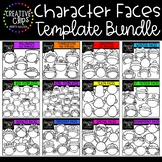 Character Face Templates Bundle ($36.00 Value) {Creative C