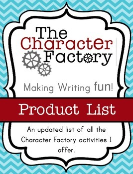 {Character Factory} List of Current Products
