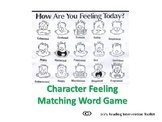 Character Feeling Matching Flash Cards