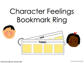 Character Feelings Bookmark Ring Template