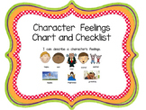 Character Feelings Chart and Checklist