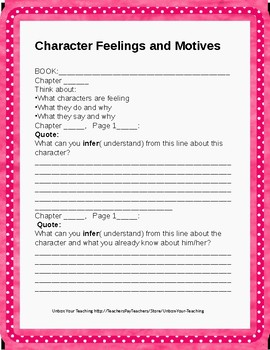 Character Feelings Comprehension Check