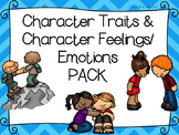CHARACTER TRAITS & FEELINGS GRAPHIC ORGANIZERS-EXIT TICKET