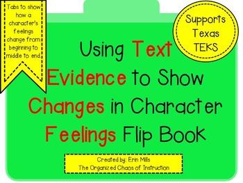 UPDATED Change in Character Feelings-Flip Booklet