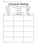 Character Feelings Graphic Organizer