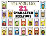 Character Feelings Mega Poster Pack for Kindergarten and First Grade ELA