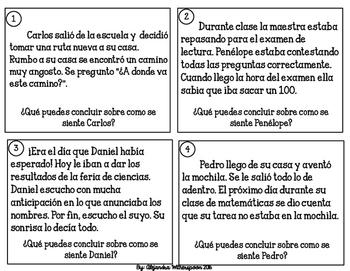 Spanish Character Feelings/Sentimientos de personajes