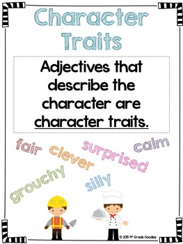 Character - Feelings, Traits, & Motivations (Posters and Graphic Organizer)
