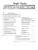 Character Feelings Worksheet