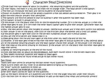 Character Feud Powerpoint Game
