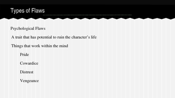 Character Flaws in Creative Writing
