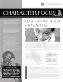 Character Focus Newsletter-Foundations
