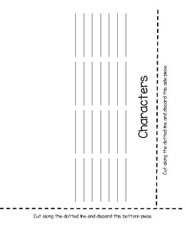 Character Foldable for ELA Guidebooks Grade 1
