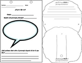 Character Foldable/3D activity SPANISH