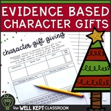 Text Evidence Character Gift Giving Christmas Activity