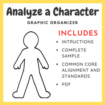 Analyzing Character Graphic Organizer & Worksheets   TpT