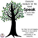 Character Handouts for the Novel Speak by Laurie Halse Anderson