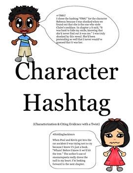 Character Hashtag (Character Traits Activity)