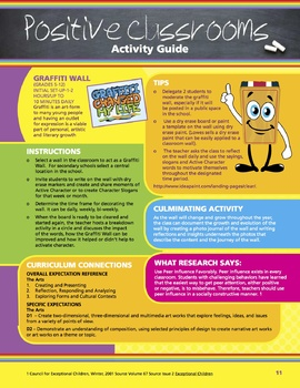Character In Motion (10 Lessons - Positive Classroom Culture Activities)