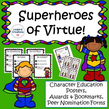 Superhero Virtue Posters and Awards
