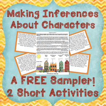 Character Inference Activities-Card Sort, Graphic Organizer and Printable