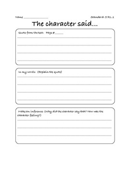 Character Inferences