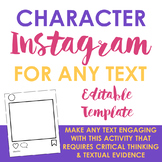 Character Instagram Post Template for ANY TEXT!