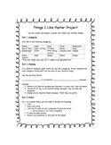 Character Interaction worksheet