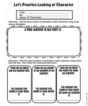 Character Interactive Notebook