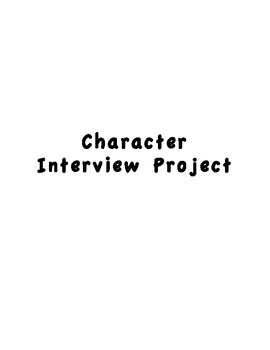 Character Interview Project