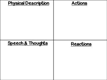 Character Jigsaw Inspired Writing Activity
