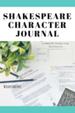 Character Journal for ANY Shakespeare Play