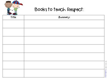 Character Kids Suggested Books Template {FREE}