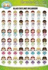 Character Kinder Kids Girls Clip Art Set 2 — Over 50 Graphics!