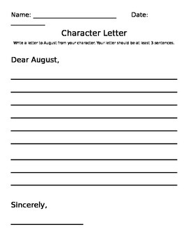 Character Letter