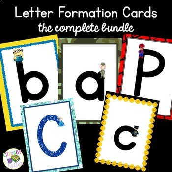 Character Alphabet and Handwriting Cards
