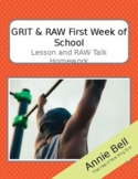 GRIT - Get to Know You Stories, RAW - First Week of School (lesson and homework)