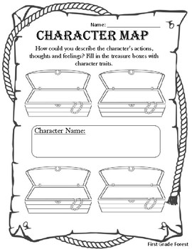 Character map graphic organizer by the first grade forest tpt character map graphic organizer ccuart Images