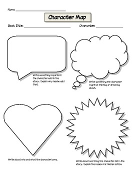 character map graphic organizer for common core by michelle koehler
